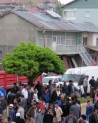 Doğanşehir Erkenek'te trafik kazası, Halk Yolu Trafiğe kapattı  FOTO GALERİ