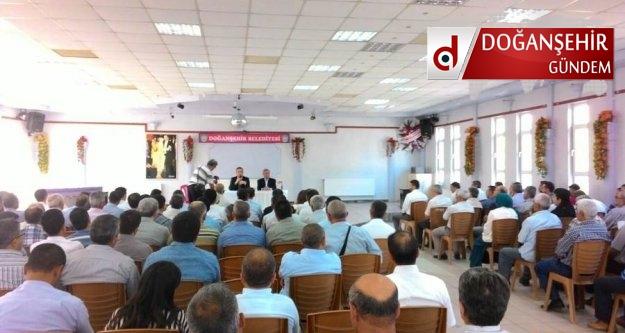 Doğanşehir de İlçe Şube Başkanları Toplantısı yapıldı.