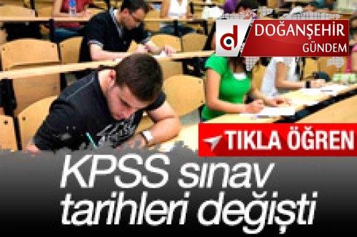 KPSS tarihleri değişti
