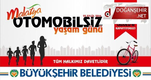 """Büyükşehir Belediyesi'den 'Otomobilsiz Yaşam Günü"""" Etkinliği"""