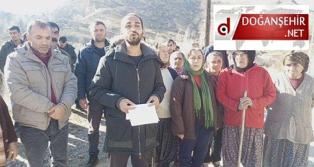 Doğanşehir  Dedeyazı Mahallesinde  Maden Protestosu Yapıldı (Videolu Haber)