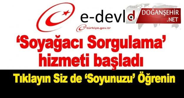 E-Devlet Soyağacı Sorgulama Sayfası Açıldı.