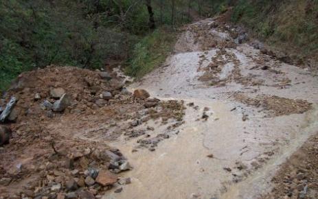 Aşırı Yağış  Begre ve Gövdeli mahallelerinde heyelan ve sel baskınlarına