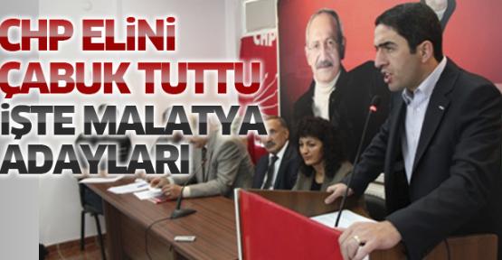 CHP Malatya Adaylarını açıkladı. İşte İlk Resmi adaylar