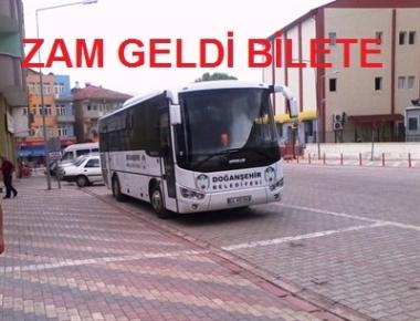 Doğanşehir Belediyesi, ilçe ile Malatya arasındaki yolcu taşıma ücretlerine zam yaptı.