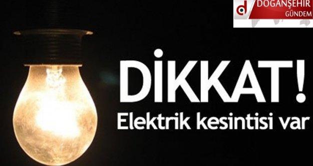 Doğanşehir 'de Elektrik Kesintisi