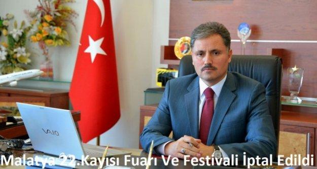 Malatya 22.  Kayısı Fuarı Ve Festivali İptal Edildi