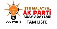 İşte AK PARTİ Malatya Aday Adayları Tam Liste