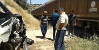 Doğanşehir #039;de Yük Treni İşçi Minibüsüne Çarptı.