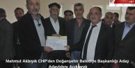 Mahmut Akbıyık CHP#039;den Doğanşehir Belediye Başkanlığı Aday Adaylığını Açıkladı (Videolu Haber )