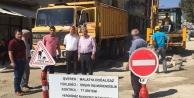 Doğanşehir'de Doğalgaz Çalışmaları Devam Ediyor.