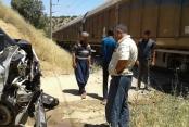 Doğanşehir 'de Yük Treni İşçi Minibüsüne Çarptı.