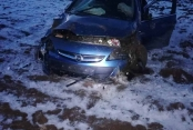 Dogansehir de Otomobil Takla Attı  4 Yaralı
