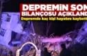 Malatya Valiligi Deprem Bilançosunu Acıklandı