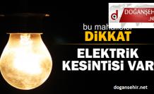 Doğanşehir'de Elektrik Kesintisi!