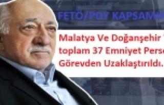 Malatya Ve Doğanşehir'de toplam 37 Emniyet...