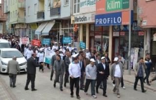 Doğanşehir 'de Sağlıklı Yaşam Yürüyüşü...