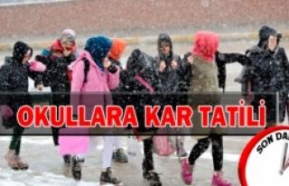Doğanşehirde Okullara Kar Tatili