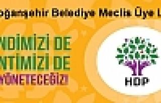 Hdp Doğanşehir Belediye Meclis Üye Listesi Açıklandı