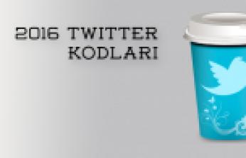 2016 Twitter Kodları