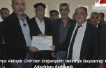 Mahmut Akbıyık CHP'den Doğanşehir Belediye Başkanlığı Aday Adaylığını Açıkladı (Videolu Haber )