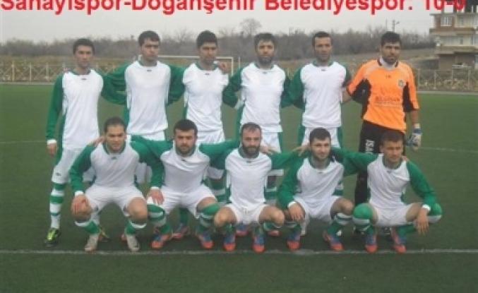 Doğanşehir Belediyespor  Sanayispor 10   Farkla Yendi
